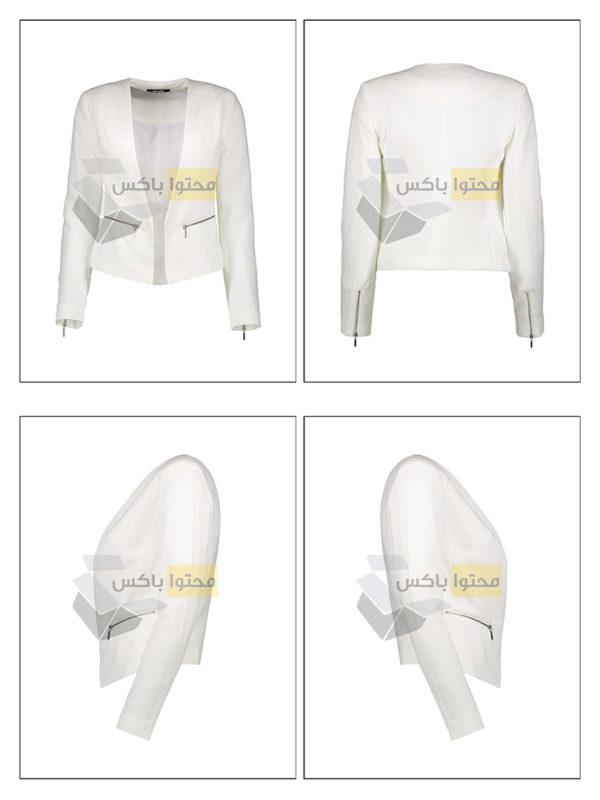 عکاسی زمینه سفید از کت زنانه برای دیجی استایل